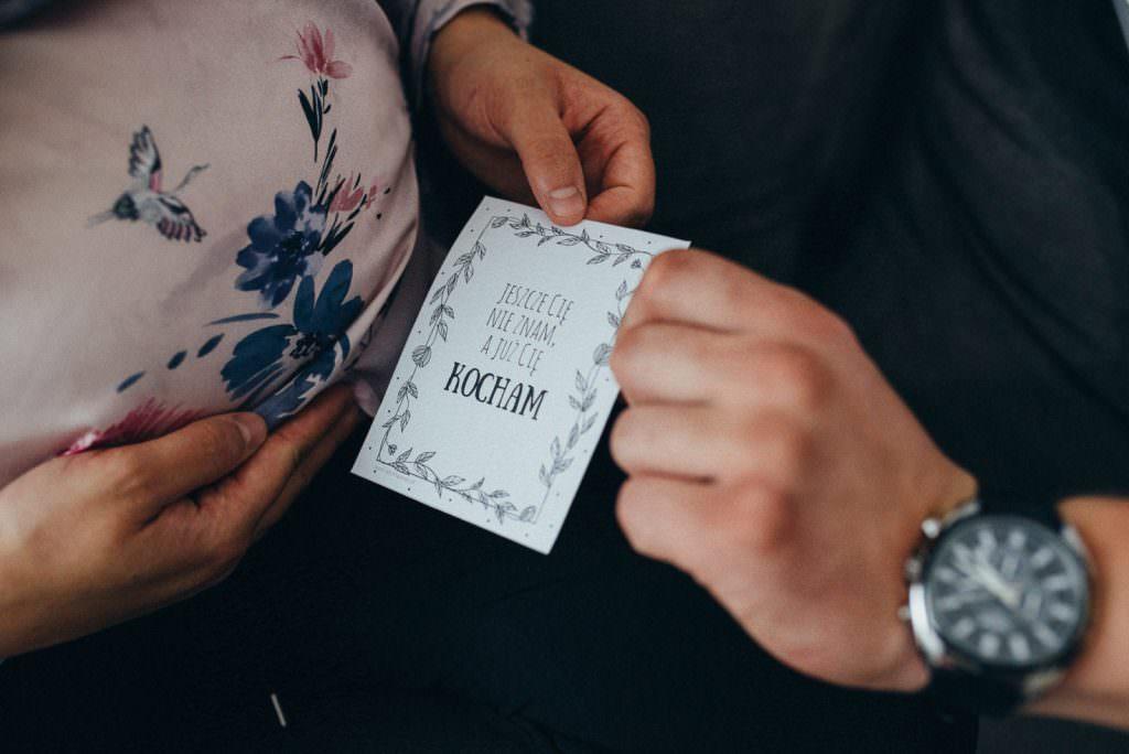 karteczki do sesji ciążowej