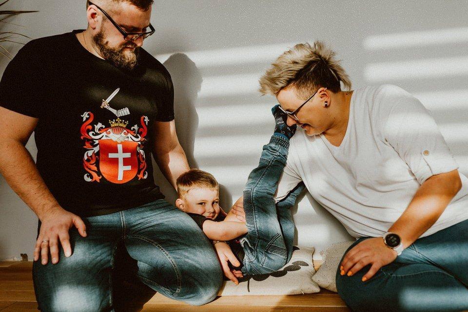 szczęśliwa rodzina fotografia