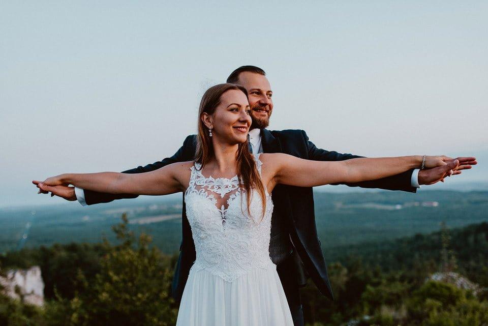 Sesja ślubna - Góra Zborów i Jura Krakowsko-Częstochowska o świcie 2