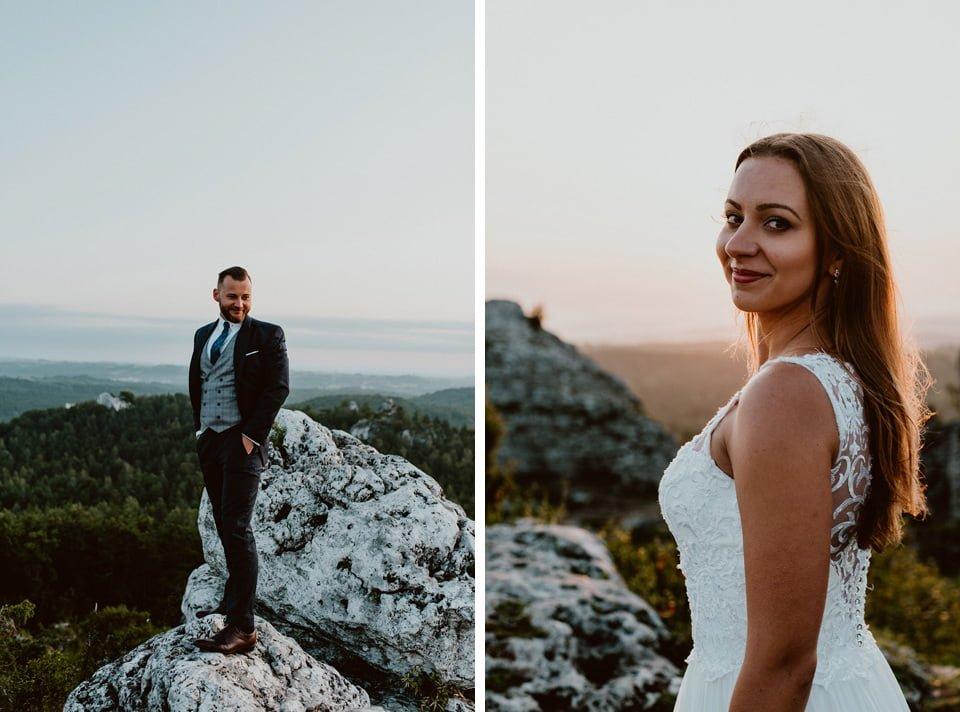 Sesja ślubna - Góra Zborów i Jura Krakowsko-Częstochowska o świcie 3