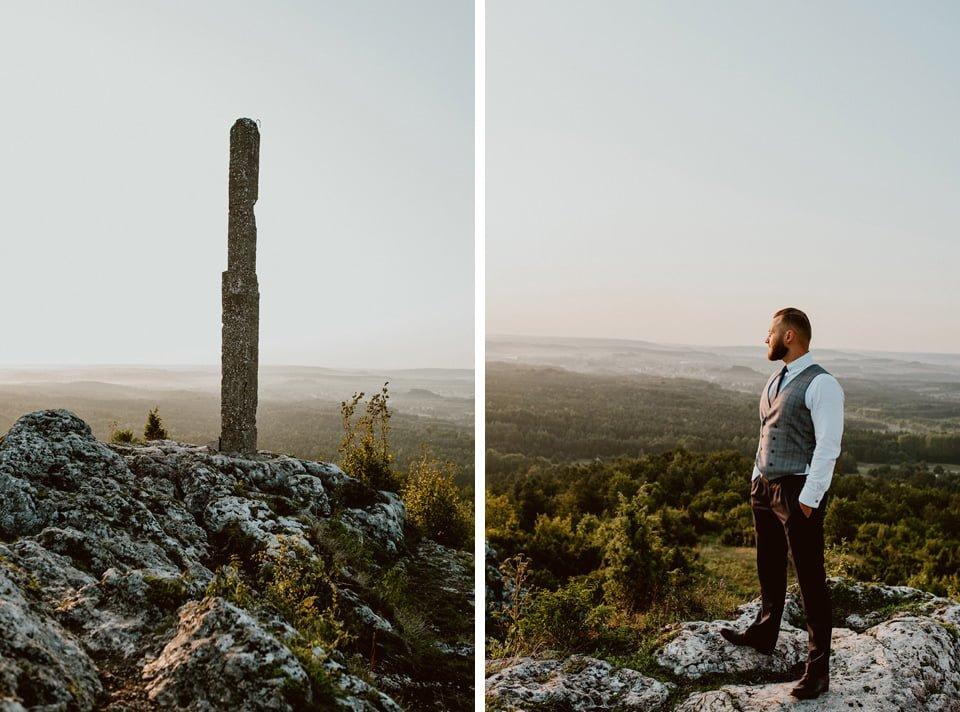 Sesja ślubna - Góra Zborów i Jura Krakowsko-Częstochowska o świcie 6