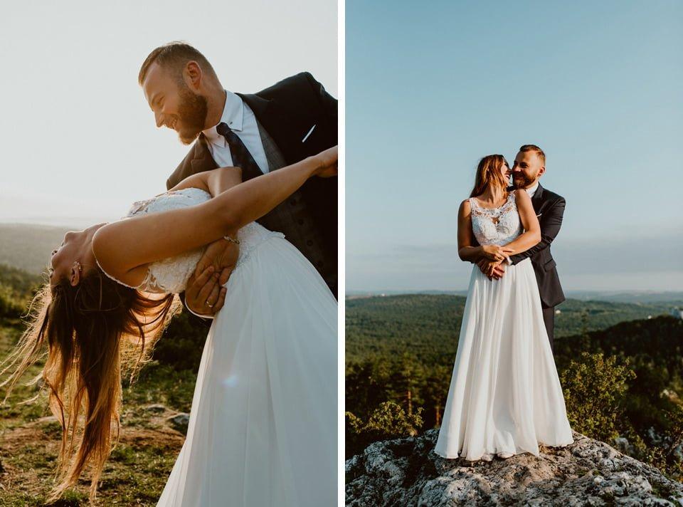 Sesja ślubna - Góra Zborów i Jura Krakowsko-Częstochowska o świcie 19