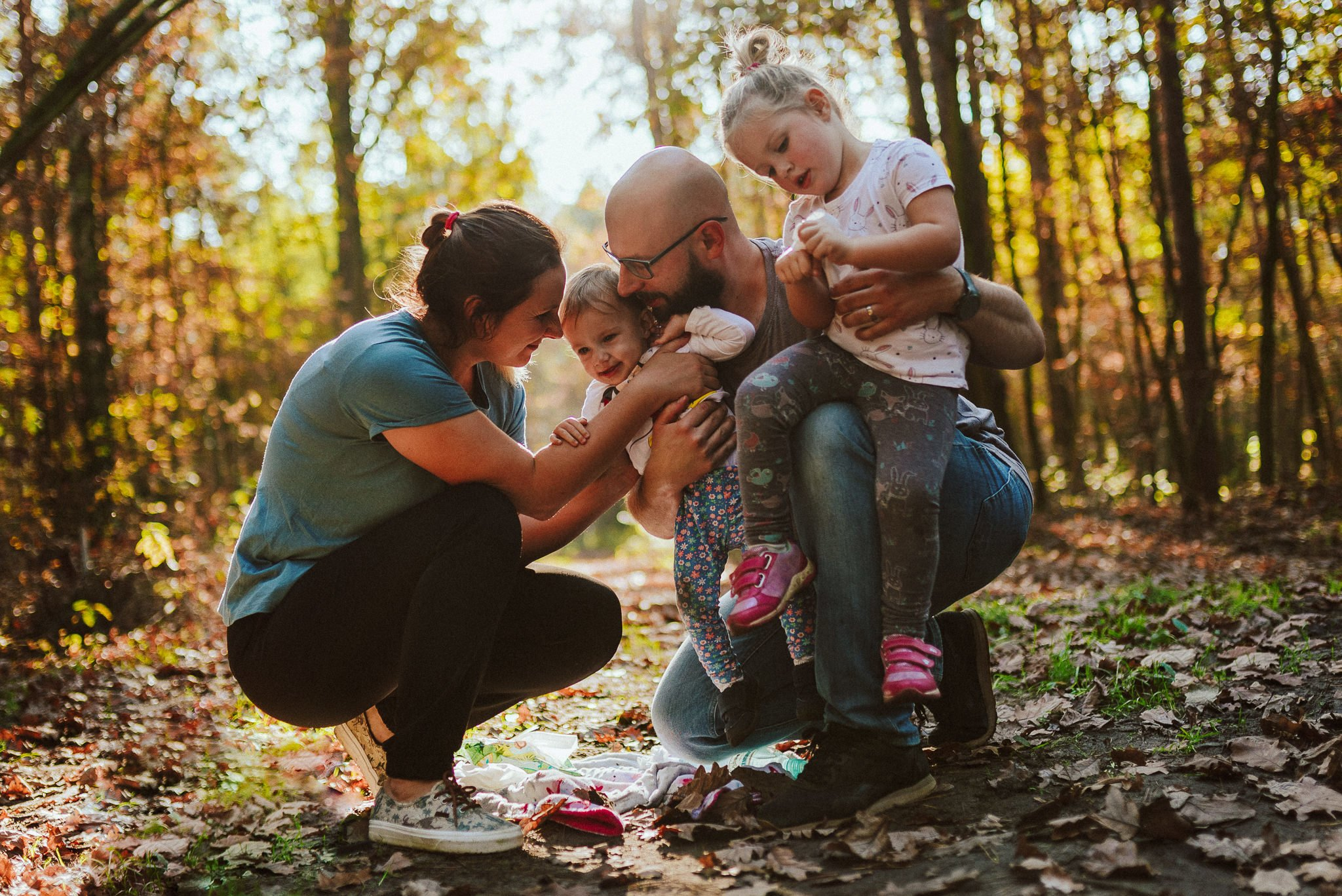 sesja rodzinna w lesie radom