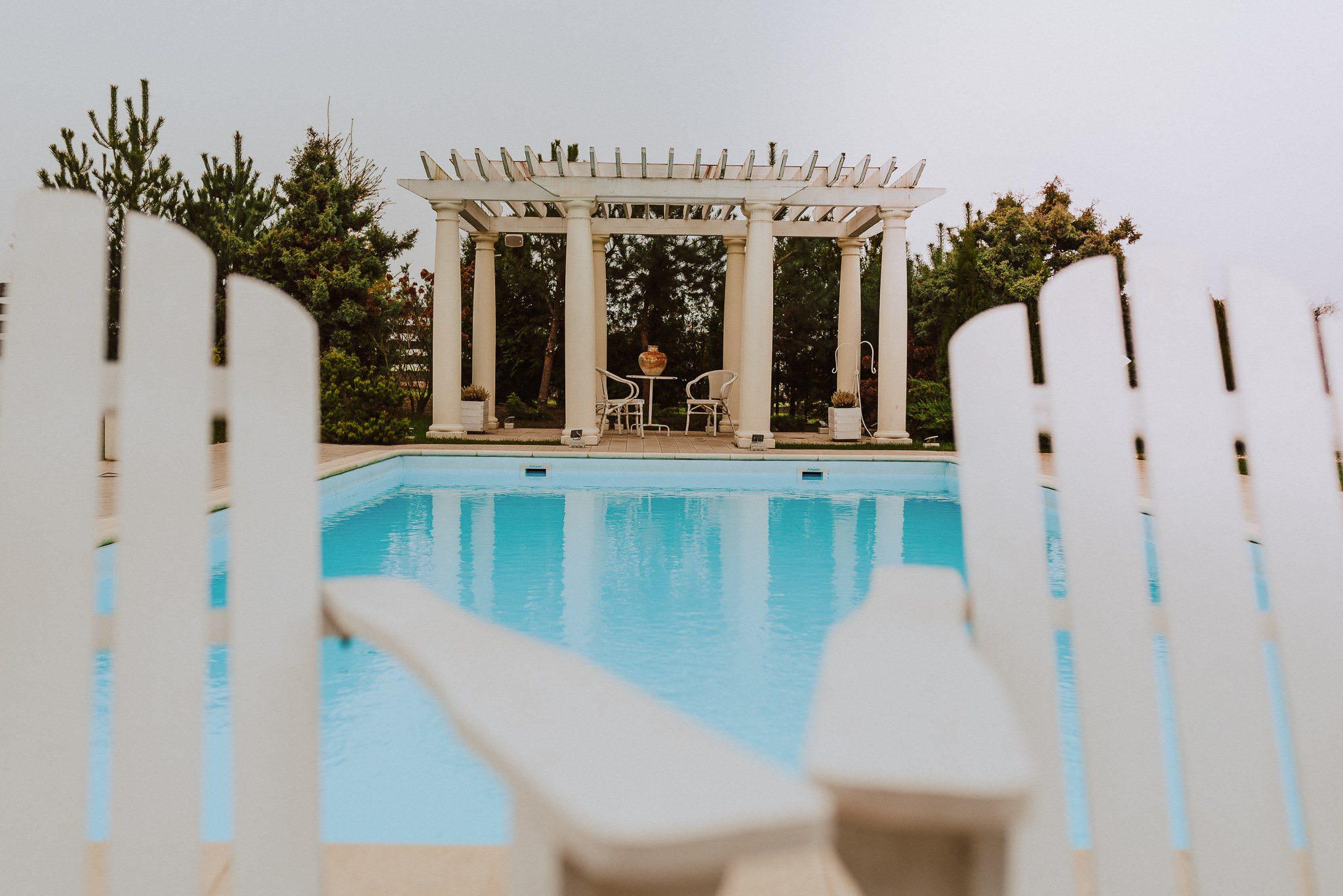 miętowe wzgórza basen wesele