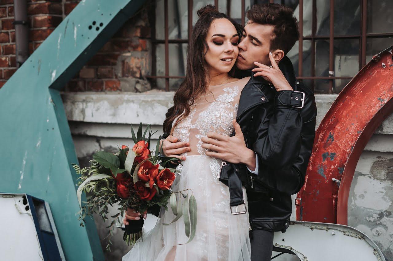 Sesja ślubna w stylu brutal wedding w Warszawie 2